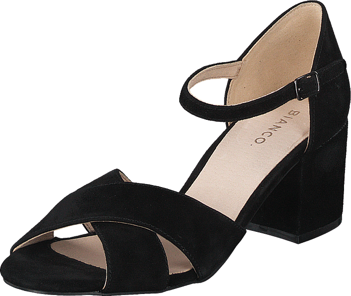 Bianco - Biacate Suede Cross Sandal 101 Black 1