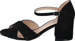 Biacate Suede Cross Sandal 101 Black 1