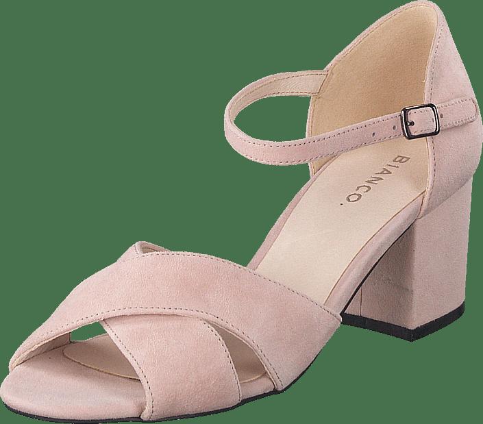 Biacate Suede Cross Sandal 491 Powder 1