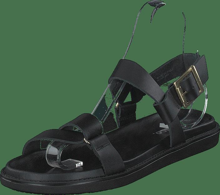 Biadebbie Leather Strap Sandal 100 Black