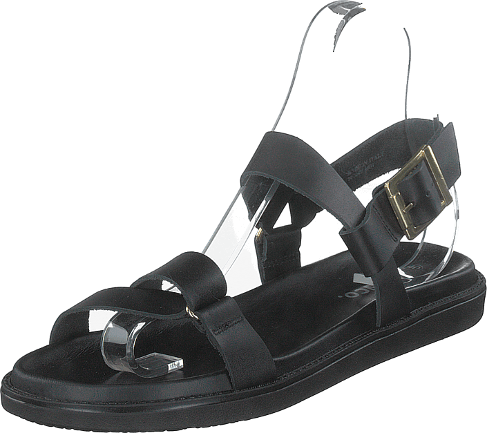 Bianco - Biadebbie Leather Strap Sandal 100 Black