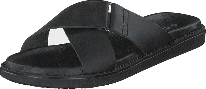 Bianco - Biadebbie Leather Cross Sandal 100 Black