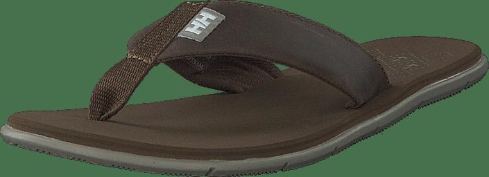W Seasand Leather Sandal Fossil / Aluminium