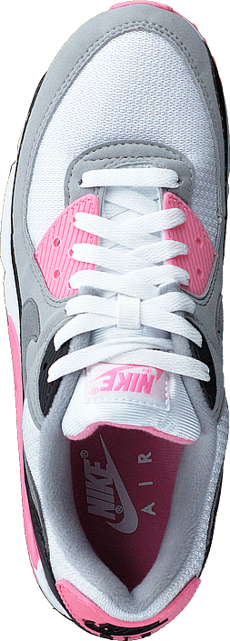 Wmns Air Max 90 White/particle Grey-rose-black