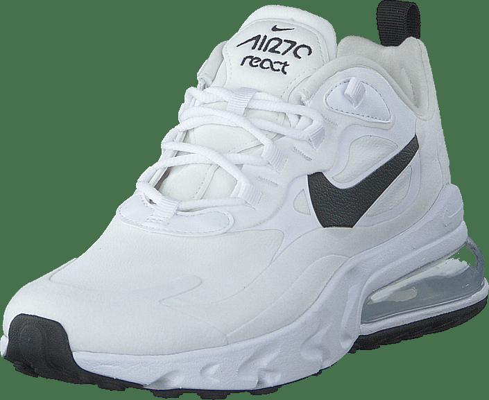 Wmns Air Max 270 React White/black-metallic Silver