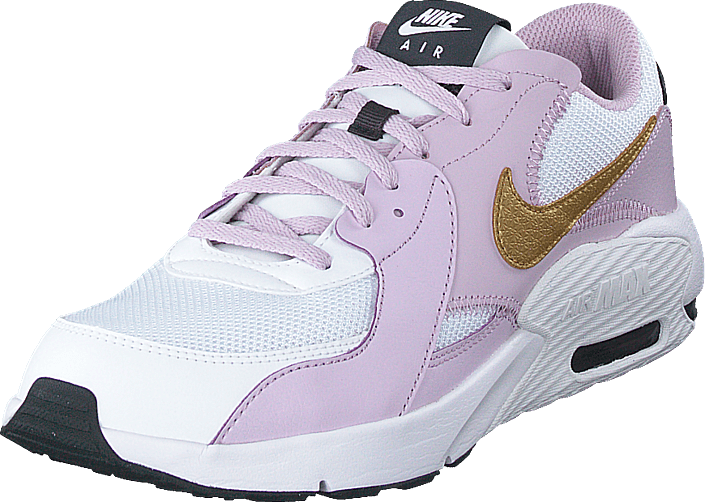Air Max Excee Gs White/mtlc Gold-iced Lilac-off