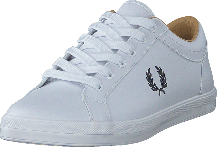 Fred Perry - Baseline Leather White