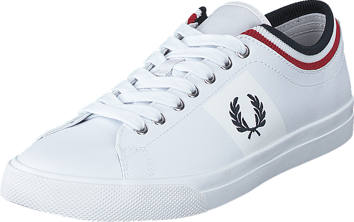 Fred Perry - Underspin Tipped Cuff Leather White