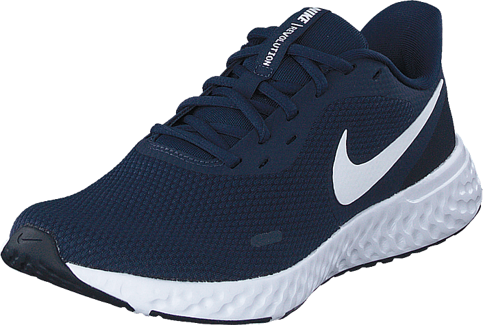 Nike - Men's Revolution 5 Midnight Navy/white-dark Obsid