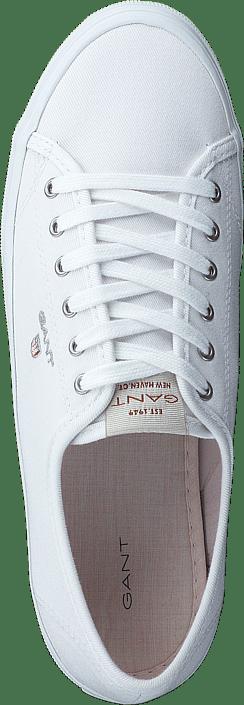 Kjøp Gant Preptown Low Lace Shoes G290 - Bright White Sko Online