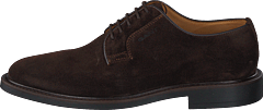 St Akron Low Lace Shoes G46 - Dark Brown