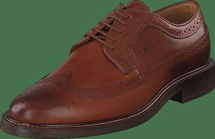 St Akron Low Lace Shoes G45 - Cognac