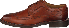St Akron Low Lace Shoes G45 - Cognac