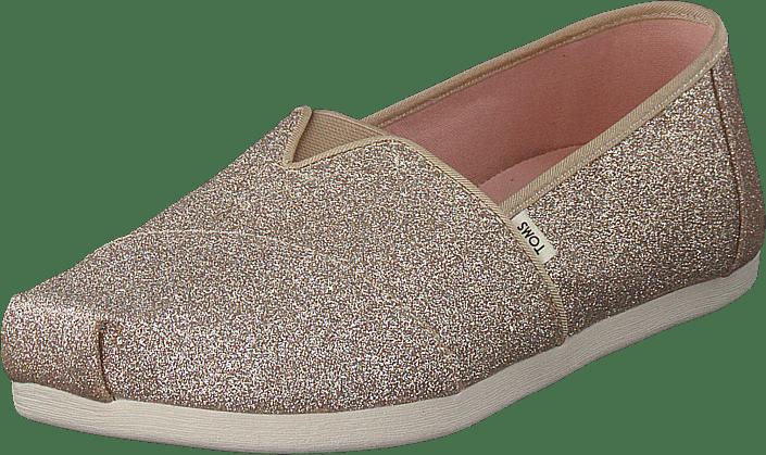 Toms - Champagne Glitter Wm Alpr Esp  Gold