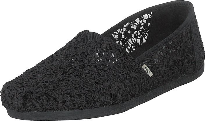 Toms - Black Floral Lace Wm Alpr Esp  Black