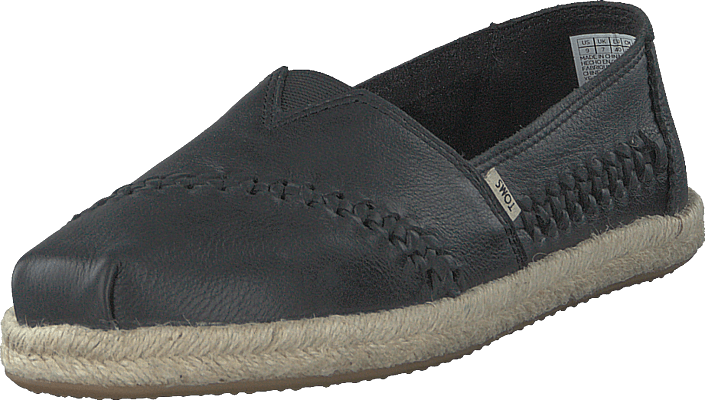 Toms - Blk Leather/rope Wm Alpr Esp S Black