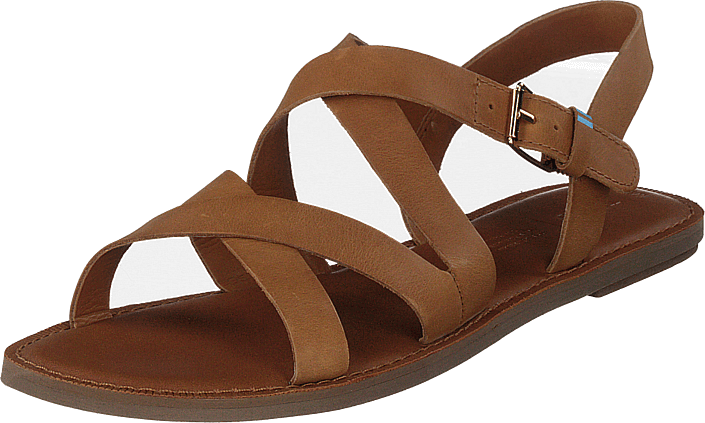 Toms - Tan Leather Wm Sicily Sand Car Natural