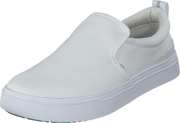 Toms - White Canvas Mn Trlt Slipon Ss White