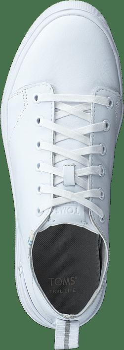 Kjøp Toms White Leather Mn Trvlo Sneak S 0 White sko Online