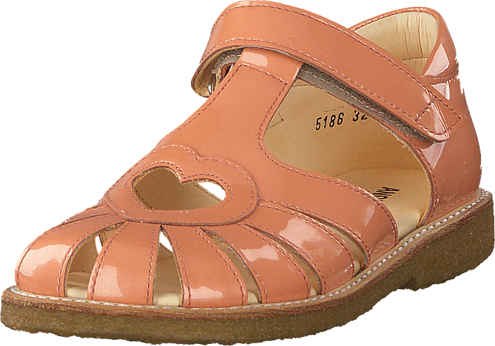 Angulus - Sandal With Heart Detail And V Peach