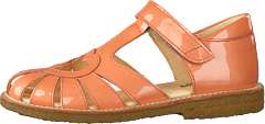 Sandal With Heart Detail And V Peach