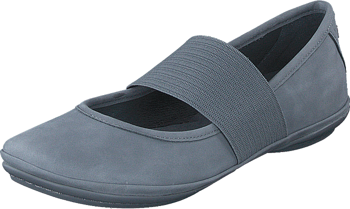 Camper Girls Shoes Kids Right Classic Ballet Slipper Sella Negro