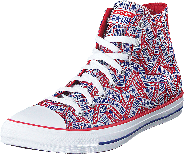 Cuck Taylor All Star Logo Play Red/white