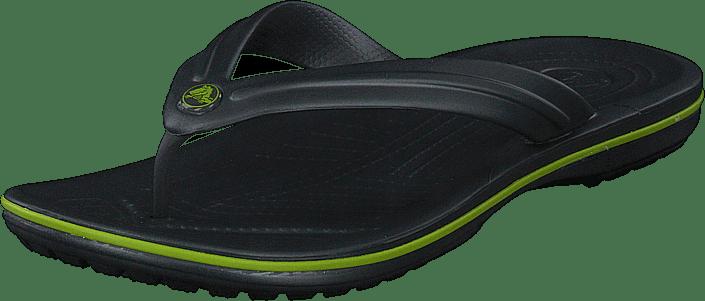 Crocs - Crocband Flip Graphite/volt Green