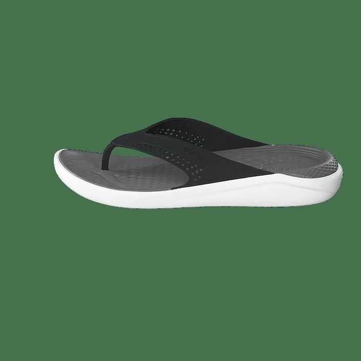 Kjøp Crocs Literide Flip Blacksmoke sko Online | FOOTWAY.no