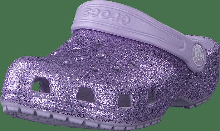Crocs - Classic Glitter Clog K Lavender