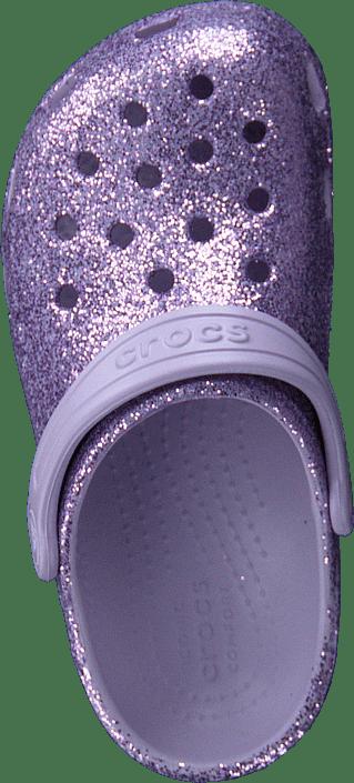 Classic Glitter Clog K Lavender