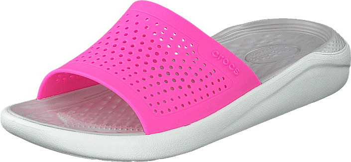Crocs - Literide Slide Electric Pink/almost White