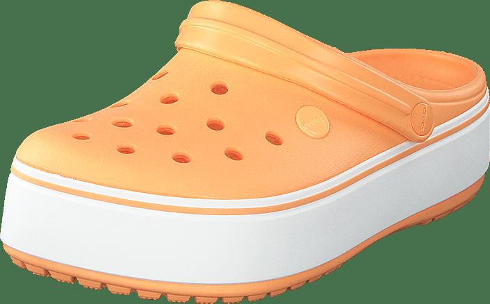 Crocs - Crocband Platform Clog Cantaloupe/white