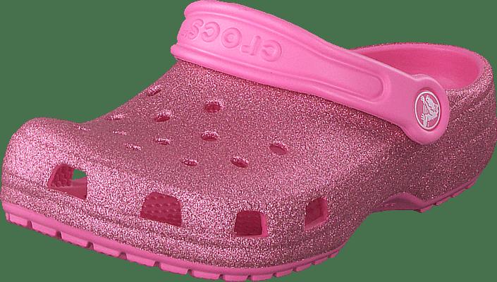 Crocs - Classic Glitter Clog K Pink Lemonade
