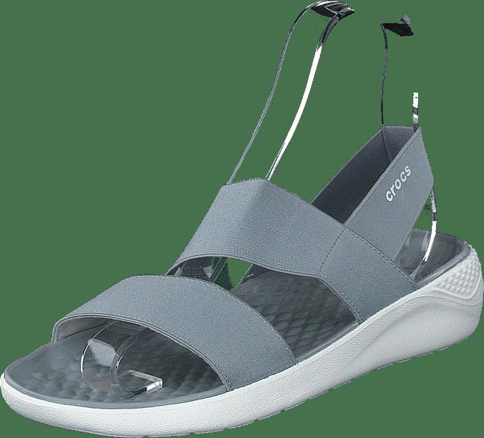 Crocs - Literide Stretch Sandal W Light Grey/white
