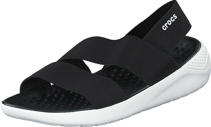 Crocs - Literide Stretch Sandal W Black/white