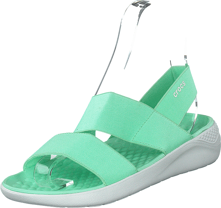 Crocs - Literide Stretch Sandal W Neo Mint/almost White