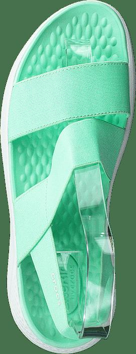 Kjøp Crocs Literide Stretch Sandal W Neo Mint/almost White Sko Online