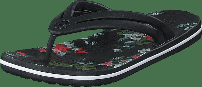 Crocband Botanical Print Flp W Black/tropical