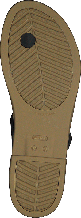 Crocs Tulum Toe Post Sandal W Black/tan