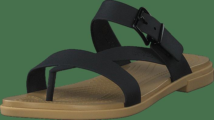 Crocs - Crocs Tulum Toe Post Sandal W Black/tan