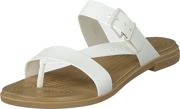 Crocs - Crocs Tulum Toe Post Sandal W Oyster/tan