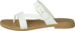 Crocs Tulum Toe Post Sandal W Oyster/tan