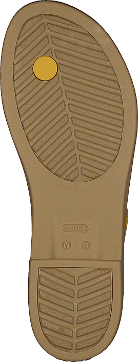 Crocs Tulum Toe Post Sandal W Canary/tan Scarpe Online