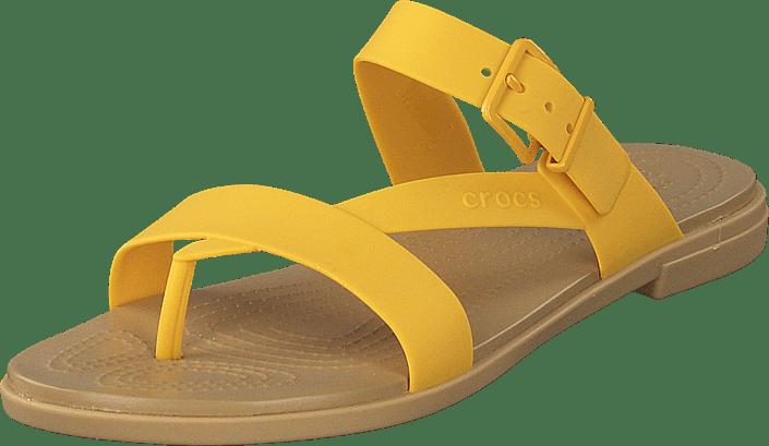 Crocs - Crocs Tulum Toe Post Sandal W Canary/tan