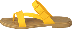 Crocs Tulum Toe Post Sandal W Canary/tan