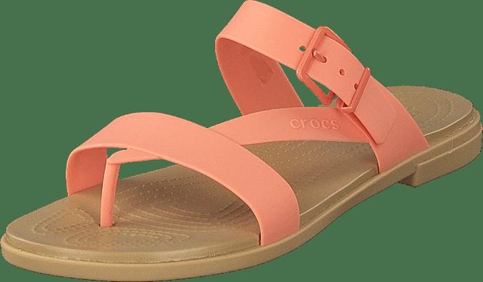Crocs Tulum Toe Post Sandal W Grapefruit/tan