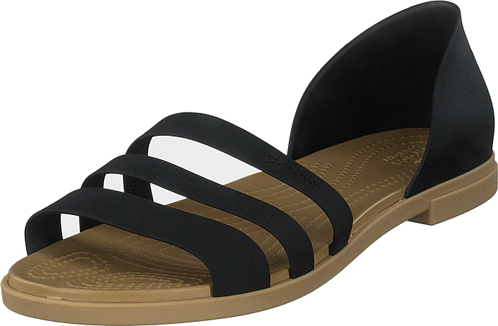 Crocs - Crocs Tulum Open Flat W Black/tan