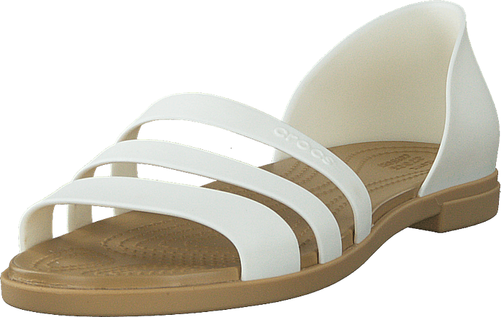 Crocs - Crocs Tulum Open Flat W Oyster/tan