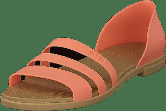 Crocs Tulum Open Flat W Grapefruit/tan